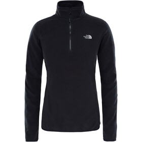 The North Face 100 Glacier Sweat-shirt avec Fermeture éclair 1/4 Femme, tnf black